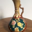Antique Handled Majolica Vase, Urn, Pitcher Austria 1850-1880, gm844