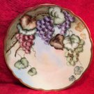 Large Antique Hand Painted Porcelain Grapes & Leaves Wall Platter Charger, p198