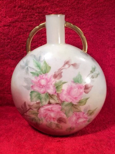 Antique Haviland Limoges Unusual Shaped Canteen Vase c.1894-1931, L252