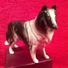 Vintage Majolica Rough Coat Collie Dog Figurine Statuette, fm892