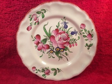 Gorgeous Hand Painted Vintage French Faience Plate by Andree Moinard c1940's, ff428