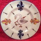 Antique Desvres n Quimper Fourmaintraux Freres Faience Plate c1879-1887, ff429