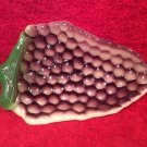 Vintage French Majolica Purple & Green Tray, fm912