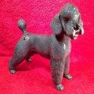 Vintage Majolica Austrian Poodle Dog Figurine c.1950's, gm818