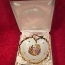 Lovely Vintage French Limoges Porcelain Foie Gras Serving Set In Original Box, L317