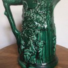 "Antique ""Star Of David"" Sarreguemines Majolica Tavern Pitcher c.1834-1890, fm935"