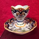 Antique French Faience Egg Cup c1903-1913 Rouen Style, ff338