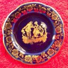 Cobalt & Gold French Limoges Butter Pat, L266