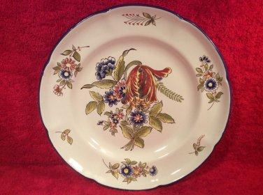 Antique Vintage French Faience Tulip Bouquet Plate by Pierre Dubois c1921, ff408