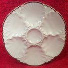 Vintage White & Gold Fine Porcelain Oyster Plate from Belgium c1960's, op242