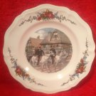 Antique Vintage Sarreguemines Obernai French Faience Horses Plate, ff302