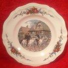 Antique Vintage Sarreguemines Obernai French Faience Horses Plate, ff302