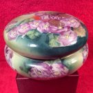 Early Antique Porcelain Hand Painted Enameled Gold Dresser Box c1800's, p203