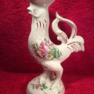 Vintage Luneville Faience Rooster Candle Stick Holder, ff411