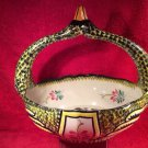 Rare Size Large Vintage Henriot Quimper Swan French Faience Basket, ff349