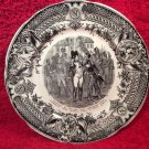 Antique Sarreguemines Faience Napoleon 'Sayings' Plate, ff374