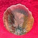 Antique Majolica Leaf Butter Pat, gm846