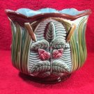 Gorgeous Antique French K&G Majolica Cache Pot Planter Jardiniere, ff412