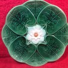 Antique Majolica Lily Flower Plate c1800's, fm982