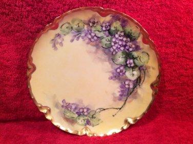 Antique Handpainted Haviland Limoges Plate Artist Signed, L254