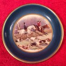 Vintage Faience English Fox Hunt Butter Pat c1930-1948, ff350