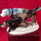 Antique German Porcelain Pointer Hunting Dogs Figurine c1906-1935, p205