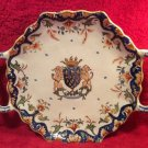 Antique French Faience Mont Saint Michel Bannette Platter Tray, ff390