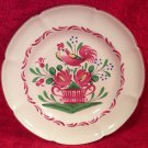 Vintage French Faience St. Clement Hand Painted Rooster Plate c1965, ff351