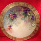 Fabulous Large Antique JPL Limoges Hand Painted Wall Plaque Platter c.1890, L243
