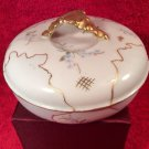Antique French JPL Hand Painted Dresser Box Powder Jar c1890-1932, L301