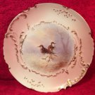 Antique Hand Painted Limoges Signed Wood Cock Game Bird Plate c.1894-1906, L258