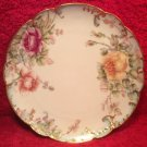 Antique Hand Painted Haviland Limoges Gold & Roses Cabinet Plate c1888, L319