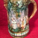 Antique Frie Onnaing French Majolica Pitcher c1890, fm976
