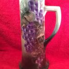 Antique Hand Painted Limoges Grapes & Leaves Tankard, L292