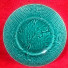 Antique French Majolica Leaves & Basketweave Plate c1800's, fm878