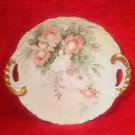 Antique T&V Limoges France Handled Roses Platter Hand Painted c1907-1919, L238