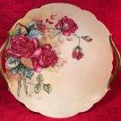 Antique Hand Painted T&V Limoges Gold Handled Platter Roses c1892-1907, L273