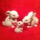 Vintage Art Pottery Bunny Rabbit Family, p194