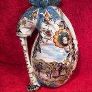 Antique 1867-1887 French Desvres Wedding Wall Pocket Vase, ff316