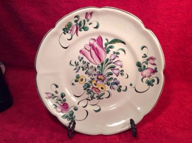 Antique Hand Painted French Faience Plate by Henri Chaumeil c1890-1920, ff317