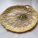 Antique Majolica Begonia Leaf Platter Bright Colors! c1800's, fm997