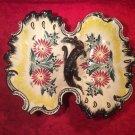 Beautiful Antique Vintage HB Quimper 2 Lobed Handled Platter Tray, ff450