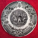 Antique Sarreguemines French Faience Napolean Plate, ff364