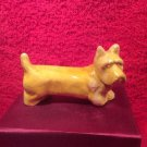 Antique VTG French Faience Majolica Yellow Westie Highland Terrier Knife Rest, ff452