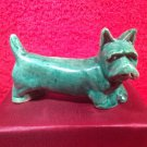 Antique VTG French Faience Majolica Green Westie Highland Terrier Knife Rest, ff453