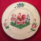 Beautiful Vintage French St. Clement Rooster Plate c1961, ff365