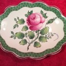 Beautiful Antique French Faience de l'Est Hand Painted Rose Dish c1800's, ff360