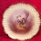 Antique Hand Painted Limoges Game Birds Plate c.1890's, L265