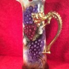 Gorgeous Antique Large Hand Painted Limoges Dragon Handled Tankard c1900, L315