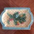 Gorgeous Antique Banana Leaves Platter c1800's, fm1011